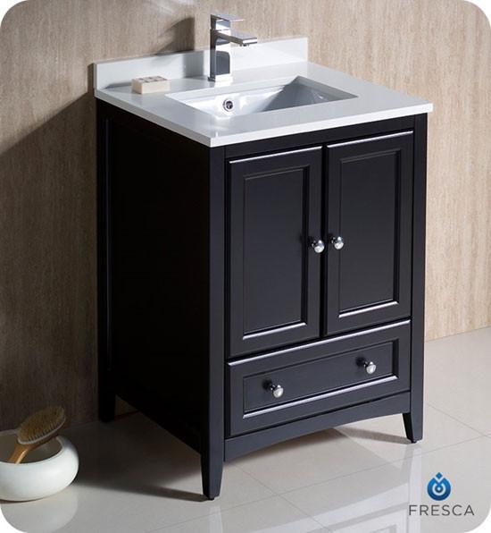 Fresca Oxford (single) 24-inch Transitional Bathroom Vanity ...