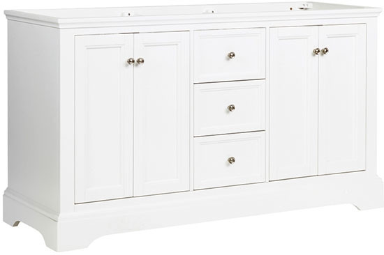 Fresca Windsor (double) 59.6 Inch Transitional Bathroom Vanity Cabinet Only    Matte White