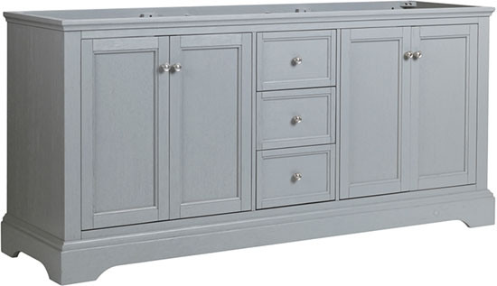 Fresca Windsor (double) 71.6-Inch Transitional Gray Textured Bathroom Vanity - Cabinet Only