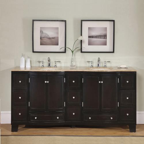 Roma (double) 72-Inch Espresso Transitional Bathroom Vanity