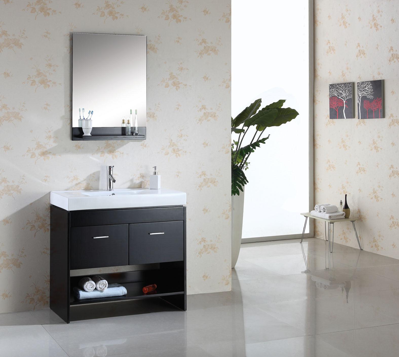 Virtu USA Gloria (single) 35.4-Inch Modern Bathroom Vanity Set ...