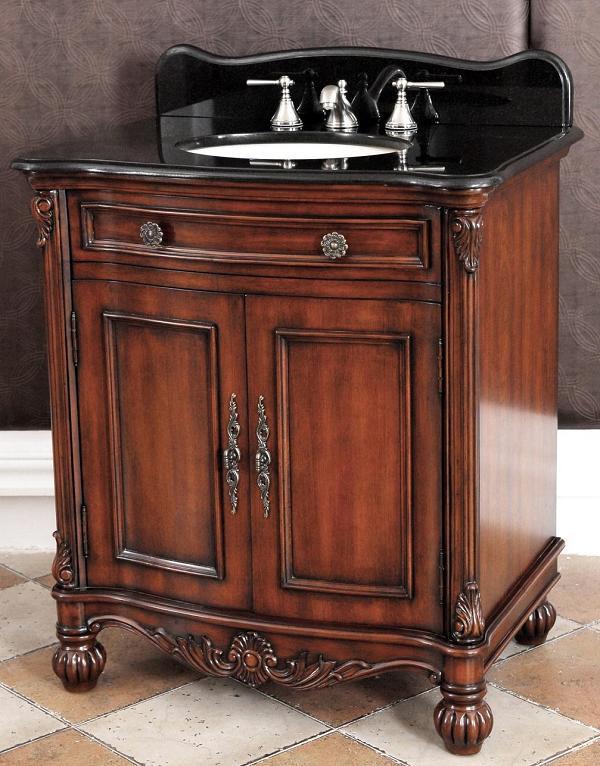Traditional Vanity Bathroom: Nicole(single) 32inch Traditional Bathroom Vanity