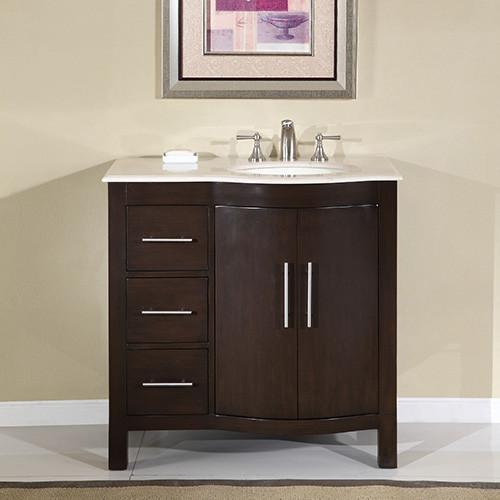 Crema Marfil - Right Side Sink