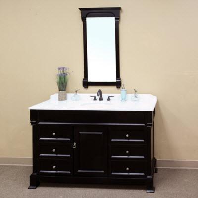 Harlow (single) 60-inch Espresso Traditional Bathroom Vanity With Mirror Option