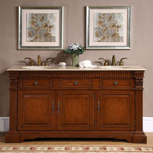 Buchanan (double) 67-Inch Traditional Bathroom Vanity