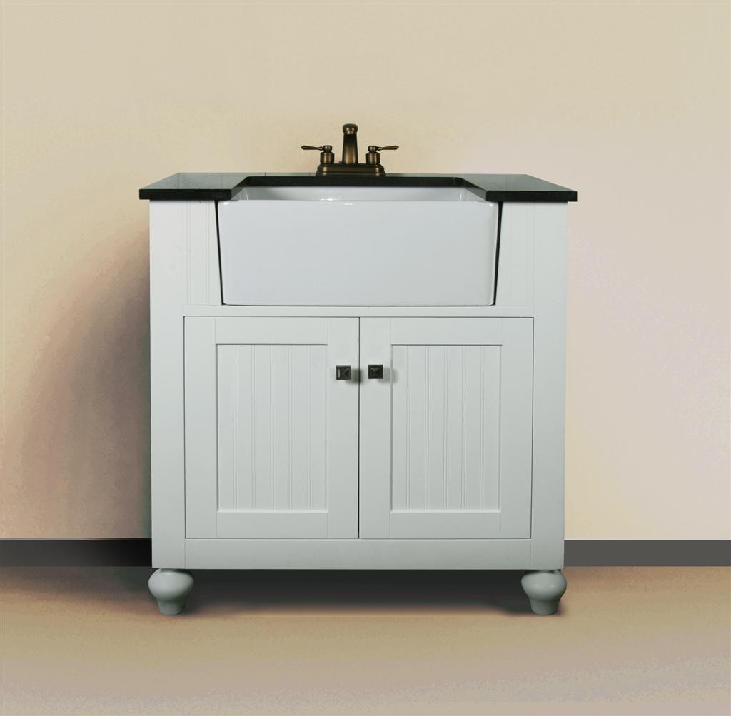 . Melendy  single  30 Inch Modern Bathroom Vanity   Matte White