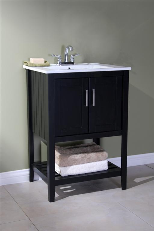 Angie (single) 24-Inch Espresso Plantation Style Bathroom Vanity