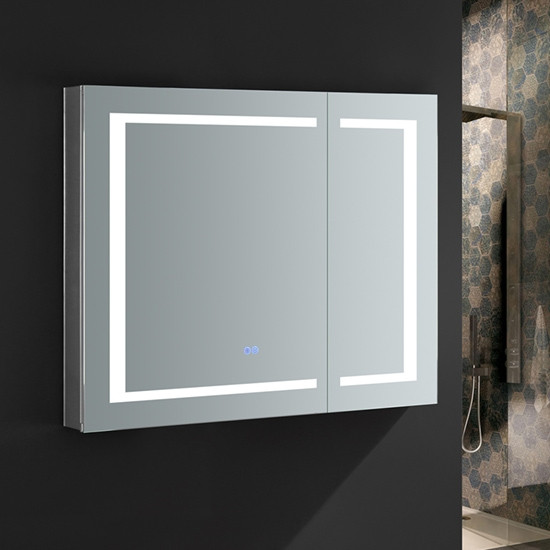 Fresca Spazio 36x30 Inch Mirrored, Led Medicine Cabinet With Defogger