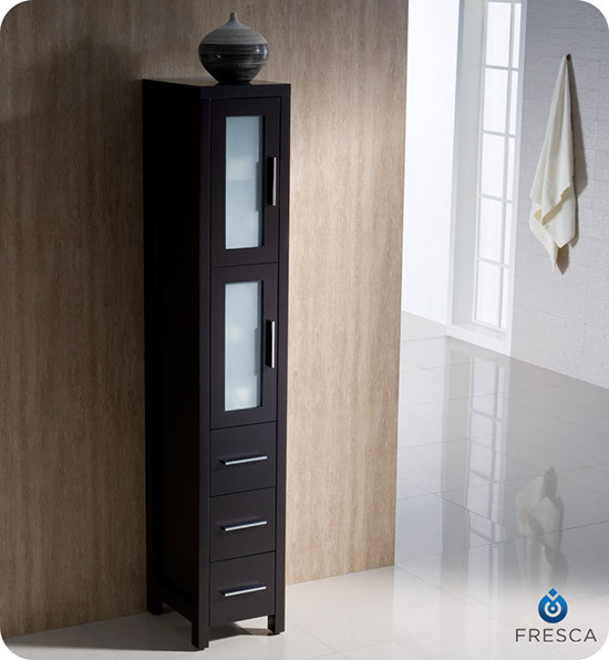 Fresca Torino 12 Transitional Bathroom Tall Linen Side Cabinet