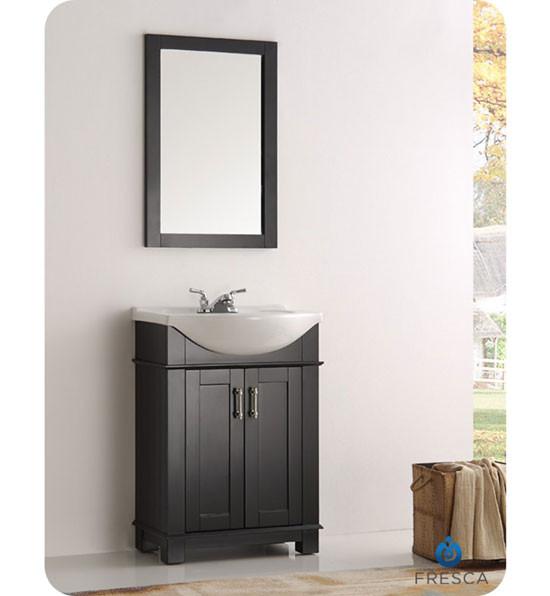 Fresca Hartford (single) 23.6-Inch Black Modern Bathroom Vanity