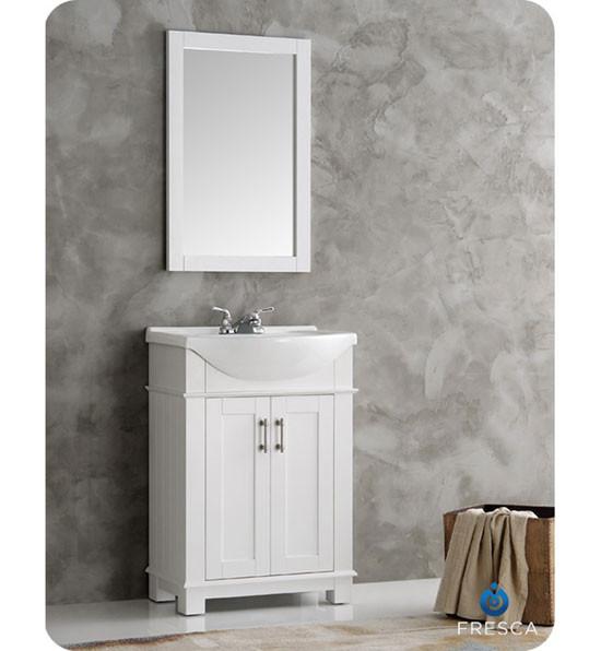 Fresca Hartford (single) 23.6-Inch White Modern Bathroom Vanity