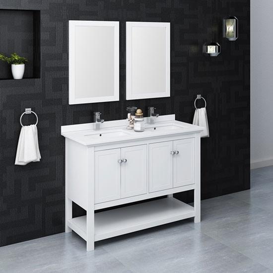 48 Inch Modern Bathroom Vanity Set, 48 Bathroom Vanity Double Sink