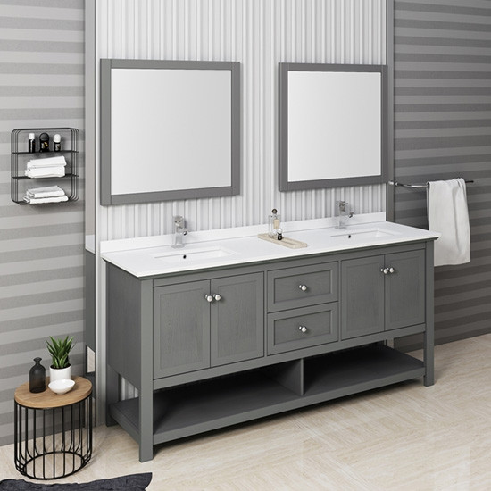 Awesome Fresca Manchester Regal Double 72 Inch Modern Bathroom Home Interior And Landscaping Ferensignezvosmurscom