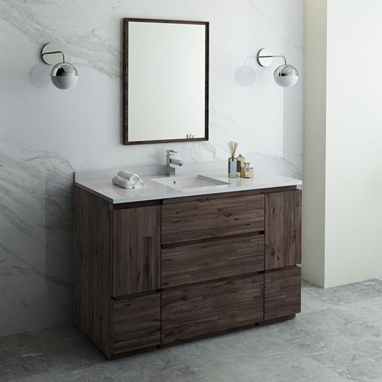 Fresca Formosa Single 54 Inch Modern Modular Bathroom Vanity Set Acacia