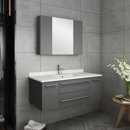 Modern Wall Mount Bathroom Vanity Set, Wall Mount Bathroom Vanities