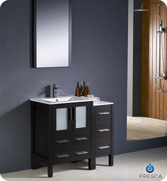 Fresca Torino (single) 36-Inch Espresso Modern Bathroom Vanity with Integrated Sink
