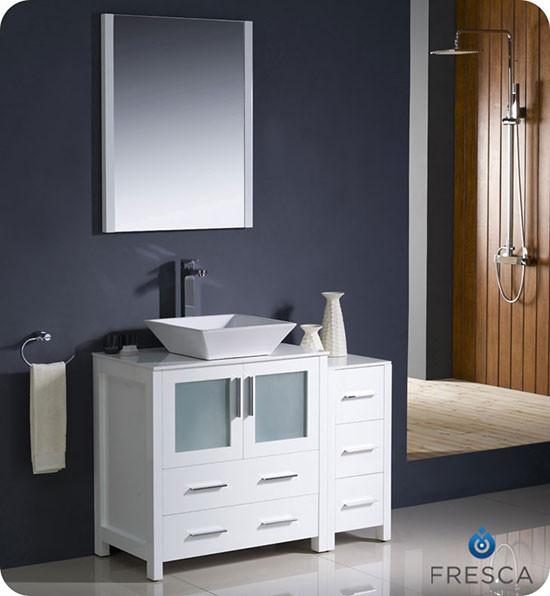 Fresca Torino Single 42 Inch Modern Bathroom Vanity White With