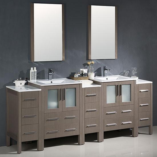 Fresca Torino (double) 84-inch Modern Bathroom Vanity ...