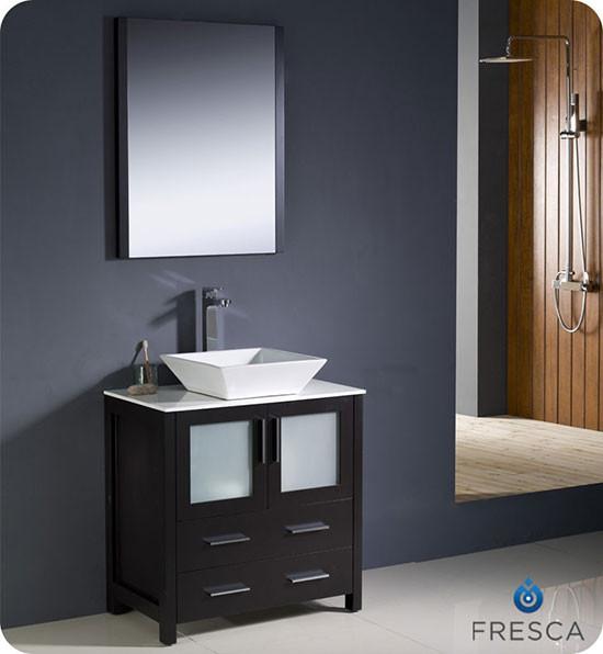 Fresca Torino Single 30 Inch Modern Bathroom Vanity Espresso