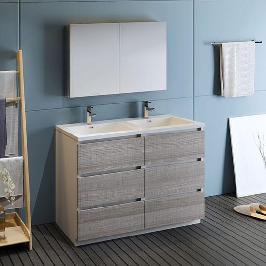 Fresca Lazzaro (double) 47.5-Inch Modern Bathroom Vanity ...