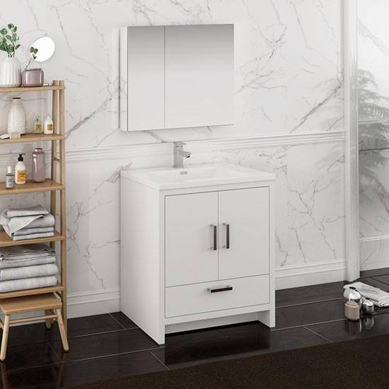 Fresca Imperia (single) 29.7-Inch Modern Bathroom Vanity ...
