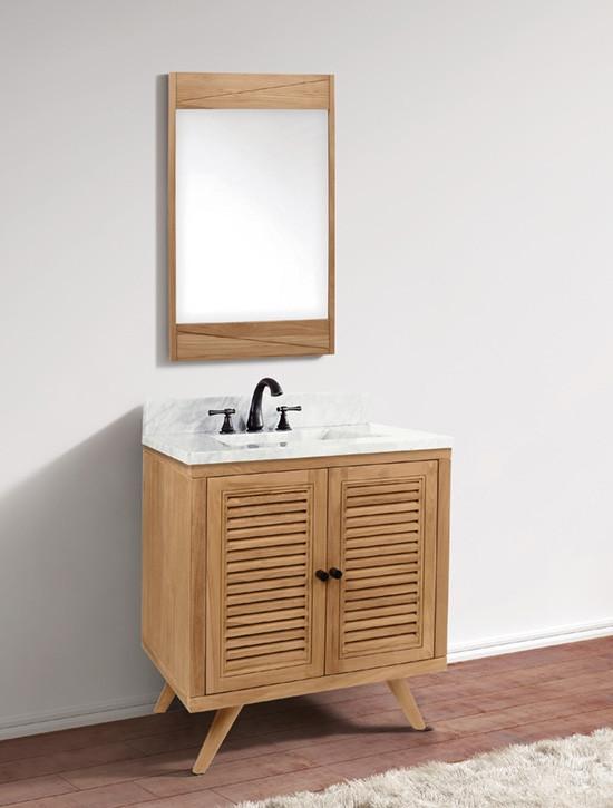 Avanity Harper Single 31 Inch Modern Bathroom Vanity Natural Teak