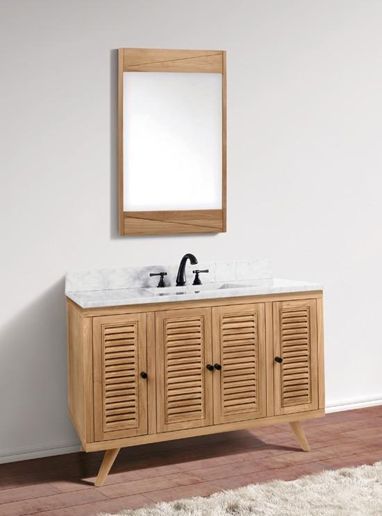 Avanity Harper Single 49 Inch Modern Bathroom Vanity Natural Teak