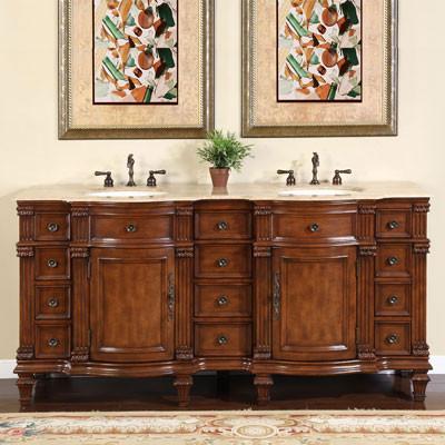 Fontane (double) 72-Inch Traditional Bathroom Vanity