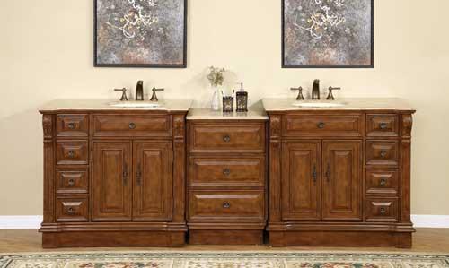 Heather Double 95 Inch Traditional Modular Bathroom Vanity
