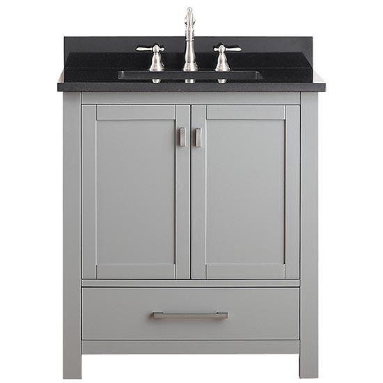 Avanity Modero (single) 30 Inch Chilled Gray Vanity Cabinet U0026 Optional  Countertops
