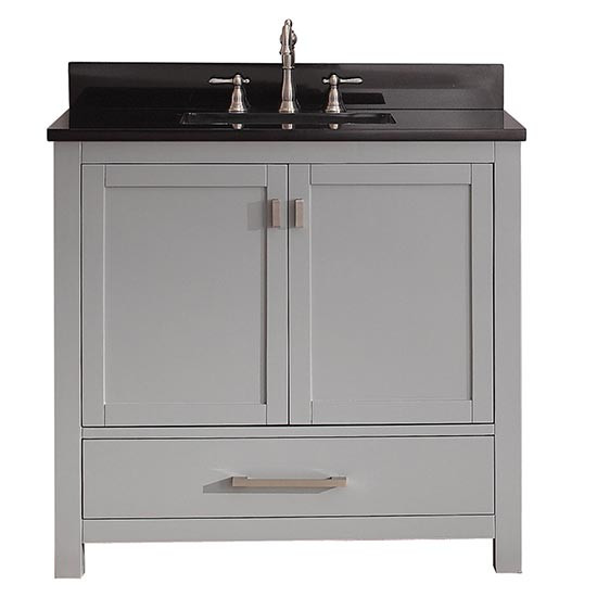 Avanity Modero Single 36 Inch Traditional Bathroom Vanity Chilled Gray