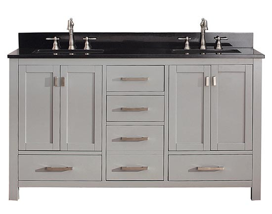 60 inch bathroom vanity cabinet. Avanity Modero (double) 60-Inch Transitional Bathroom Vanity - Chilled Gray 60 Inch Cabinet T