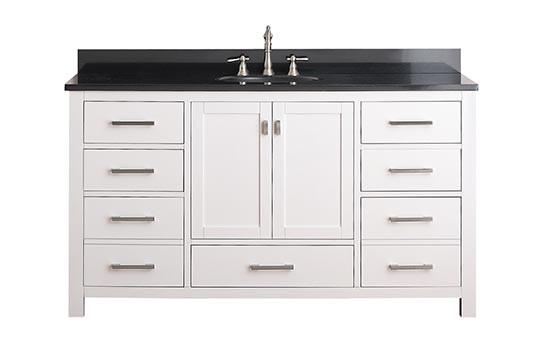 Beau Avanity Modero (single) 60 Inch White Vanity Cabinet U0026 Optional Countertops