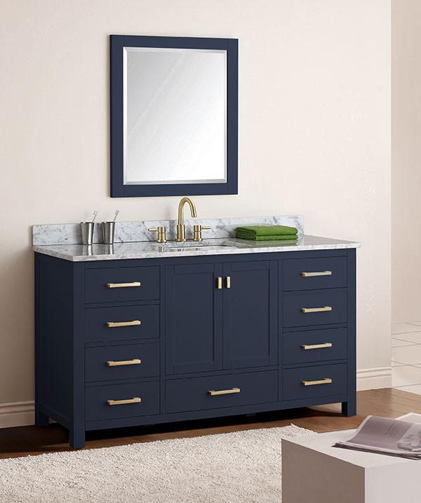 Avanity Modero Single 60 Inch Traditional Bathroom Vanity Navy Blue