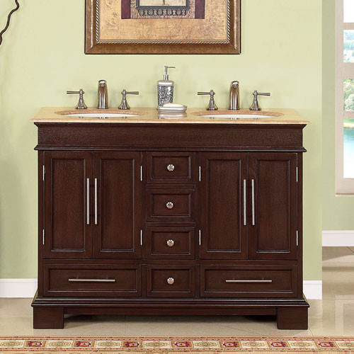 Petruchio (double) 48-Inch Transitional Bathroom Vanity
