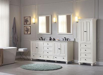 Charmant Avanity Thompson (double) 73 Inch French White Vanity Cabinet U0026 Optional  Countertops