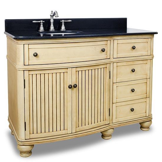 Hardware Resources Compton (single) 48-Inch Buttercream Transitional Bathroom Vanity
