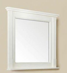 Courtney (single) 36-Inch Antique White Transitional Mirror