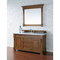 James Martin Brookfield Single 60 Inch Country Oak Vanity Cabinet Optional Countertops
