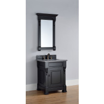 James Martin Brookfield (single) 26-Inch Antique Black Vanity Cabinet & Optional Countertops