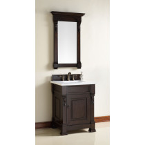 James Martin Brookfield (single) 26-Inch Burnished Mahogany Vanity Cabinet & Optional Countertops