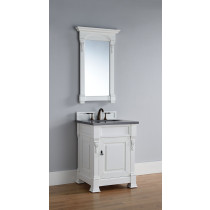 James Martin Brookfield (single) 26-Inch Cottage White Vanity Cabinet & Optional Countertops