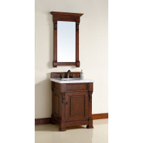 James Martin Brookfield (single) 26-Inch Warm Cherry Vanity Cabinet & Optional Countertops