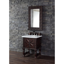 James Martin Balmoral (single) 26-Inch Antique Walnut Bathroom Vanity & Optional Countertops