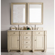 James Martin Bristol (double) 60-Inch Vintage Vanilla Vanity Cabinet & Optional Countertops