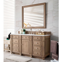 James Martin Bristol (single) 60-Inch White Washed Walnut Vanity Cabinet & Optional Countertops