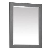 Avanity Allie/Austen 24-Inch Twilight Gray Brushed Silver Bathroom Mirror