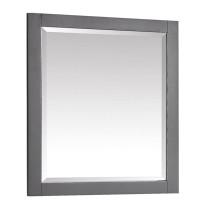 Avanity Allie/Austen 28-Inch Twilight Gray Brushed Silver Bathroom Mirror