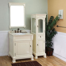Harlow (single) 30-inch Cream White Traditional Bathroom Vanity With Mirror Option