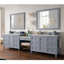 James Martin Copper Cove Encore (double) 122-Inch Silver Gray Vanity Cabinet & Optional Countertops